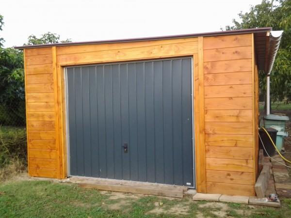 Garages ossatures bois - Pente bac acier ...